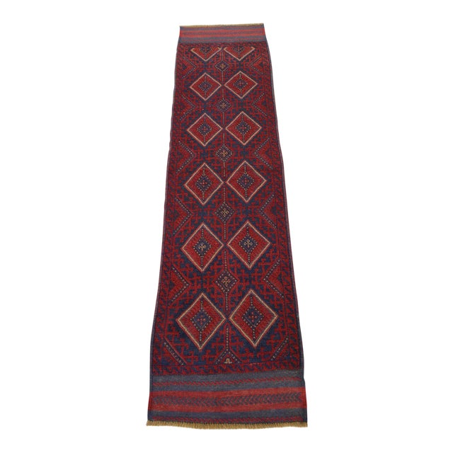 "Vintage Tribal Turkish Kilim Runner - 2' x 8'2"" For Sale"