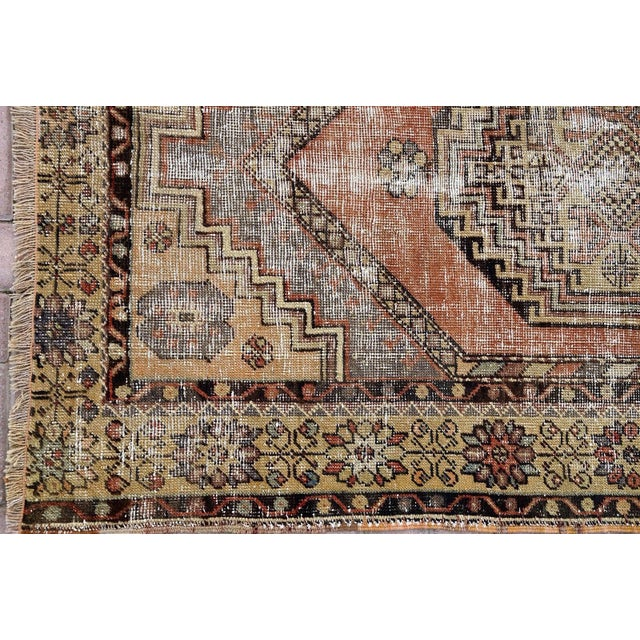 Antique Turkish Handmade Oushak Pile Rug 3′8″ × 5′11″ - Image 7 of 7