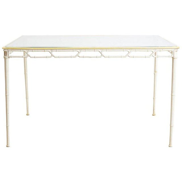 Brown Jordan Calcutta Faux Bamboo Garden Table For Sale - Image 13 of 13