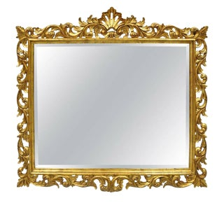 Harrison & Gil Dauphine Italian Baroque French Style Gold Giltwood Mirror For Sale