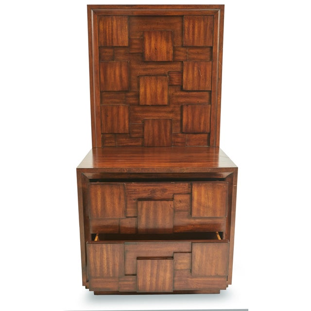 Early 20th Century Early 20th Century American Mid-Century Mahogany Nightstands-a Pair For Sale - Image 5 of 9