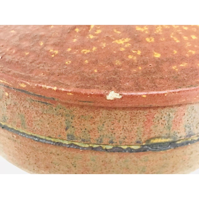 1970s Vintage Artisan Hand-Crafted Glazed Pottery Bowl For Sale - Image 9 of 10