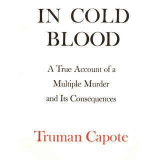 """1965 """"First Edition, in Cold Blood by Truman Capote"""" Collectible Book Preview"""