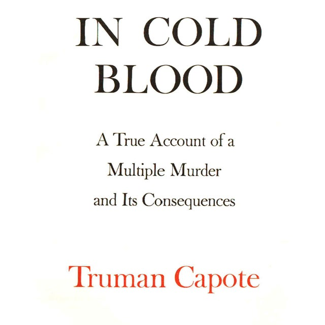 In Cold Blood by Truman Capote by Truman Capote. New York: Random House, 1965. First Edition. 1st Printing. 343 pages....