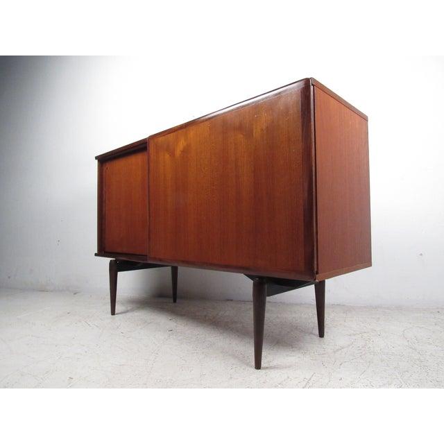 Compact Scandinavian Modern Teak Cabinet For Sale - Image 13 of 13
