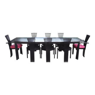 Torstein Nilsen Post Modern Black Totem Dining Set For Sale
