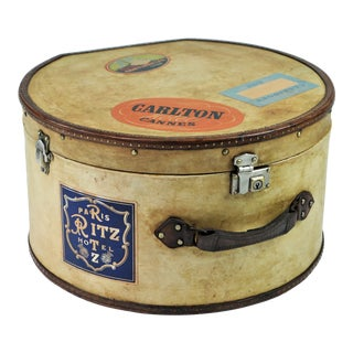 Early 20th Century Louis Vuitton Hat Box For Sale