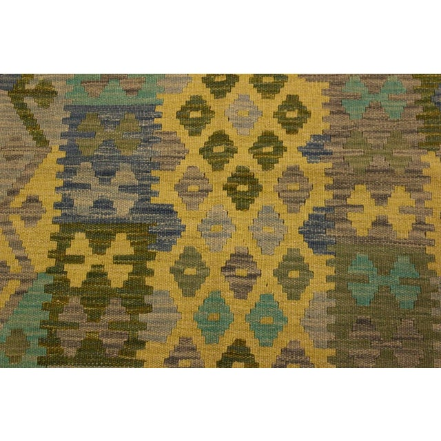 Textile Kilim Arya Jaquelin Gray/Gold Wool Rug -2'8 X 4'2 For Sale - Image 7 of 8