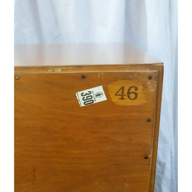 Gold 1950s Mid-Century Modern Paul Frankl for Johnson Furniture Co. Gentleman's Chest For Sale - Image 8 of 12