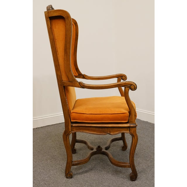 Brown Hekman Furniture Rustic Country Cane Seat Armchair For Sale - Image 8 of 10