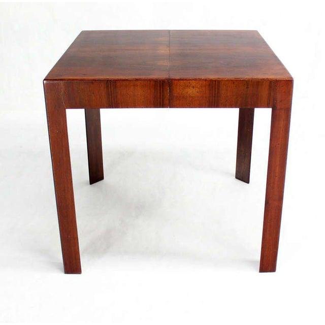 "Very nice Italian modern square game table w/ (1) 18"" leaf."