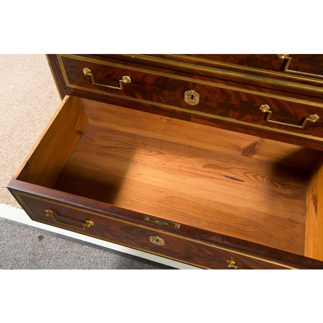 Mahogany French Louis XVI-Style Chest of Drawers For Sale - Image 7 of 9