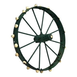 Salvage Antique Cast Iron Wheel For Sale