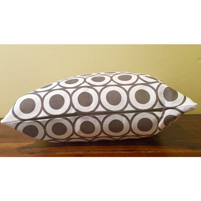 Gray & White Geometric Pillows - A Pair - Image 4 of 6