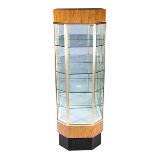 Mid Century Modern Illuminating Display Case Vitrine, C. 1960 For Sale