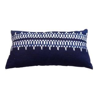 Ralph Lauren Blue Linen Paisley Lumbar Pillow For Sale