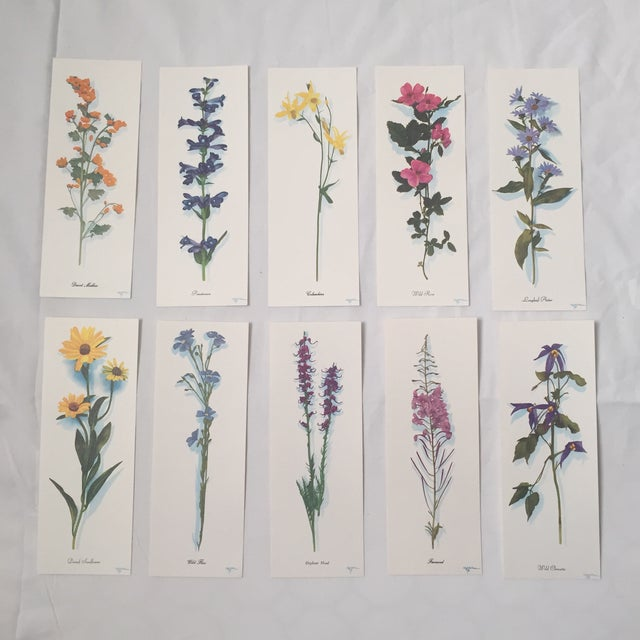 Set of 10 vintage deadstock Wildflower prints from Harrison R Crandalls promotional work for Grand Teton National Park in...