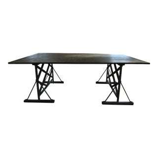 20th Century French Country Trestle Table For Sale