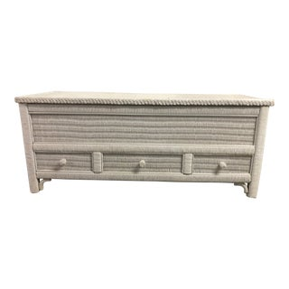 Henry Link Wrapped Rattan Cedar Chest For Sale