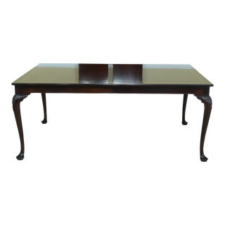 Stickley Queen Anne Mahogany Dining Room Table W. Herringbone Inlay For Sale