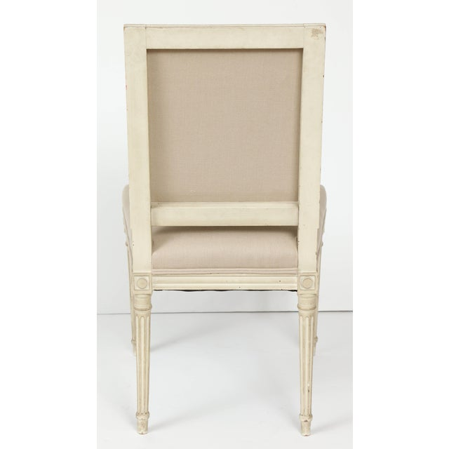 Textile Louis XVI Style Dining Chairs - Set of 6 For Sale - Image 7 of 8