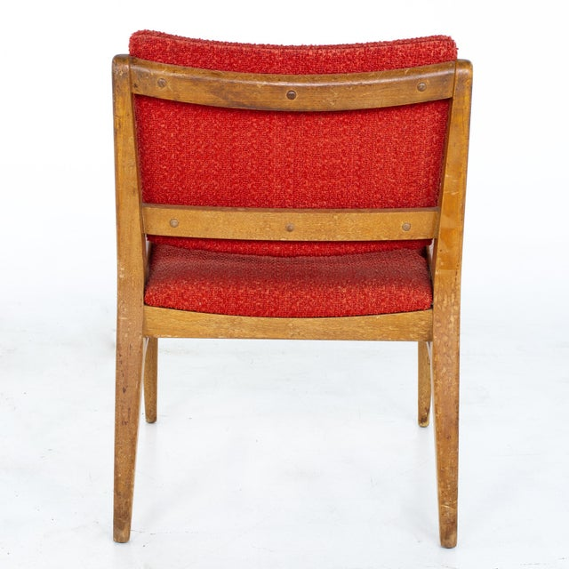 Wood John Keal for Brown Saltman Mid Century Mahogany Dining Chairs - Set of 4 For Sale - Image 7 of 13