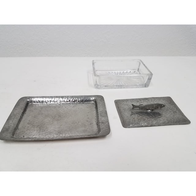 Late 19th Century Antique English Pewter Sardine Dish For Sale - Image 5 of 11