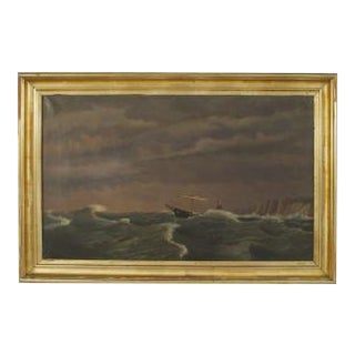 American (19th Cent) seascape oil painting