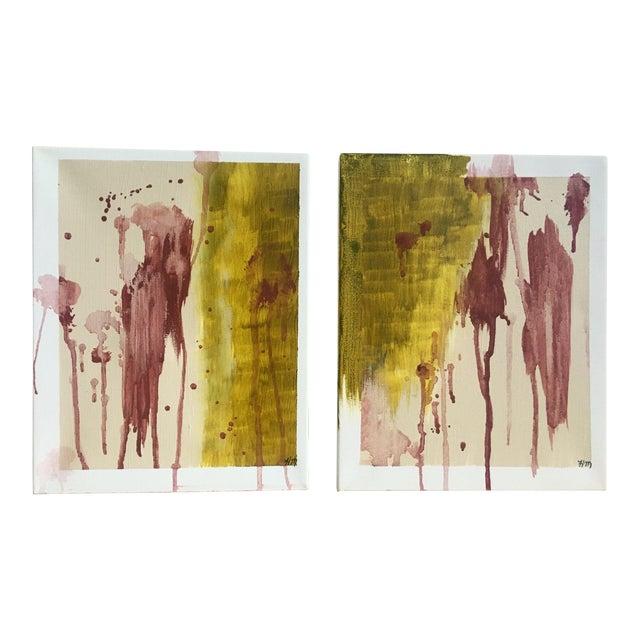 "Modern Abstract Bohemia, Original Art - Pair ""Hiraeth"" - Image 1 of 8"
