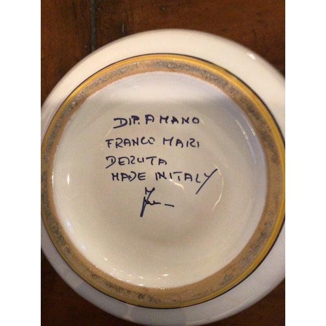 "Vintage Hand Painted Dip Amano Franco Mari Deruta Italian Pottery Planter. It is marked""Dip Amano Franco Mari Deruta Made..."