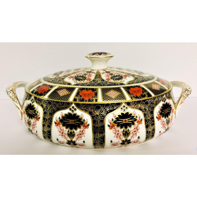 Royal Crown Derby Covered Vegetable Dish in Old Imari Pattern For Sale - Image 12 of 12