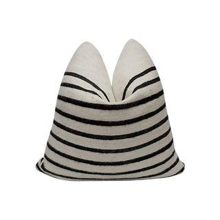 Fi Custom Berber Tribal Organic Wool Stripe Pillow For Sale