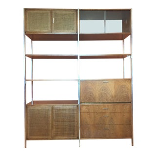 Mid Century Modern Founders Wall Shelf Unit Desk Room Divider For Sale