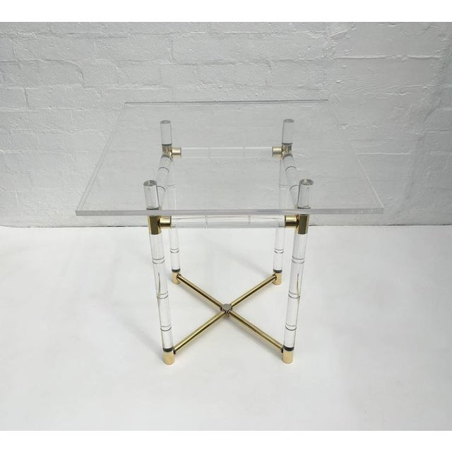 Polished Brass and Faux Bamboo Center Table by Charles Hollis Jones - Image 9 of 10
