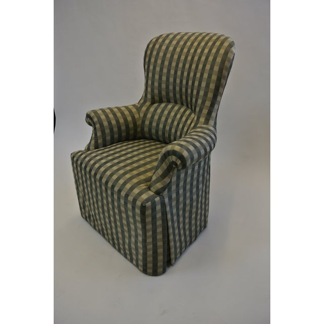 Skirted Gingham Armchair - Image 2 of 6