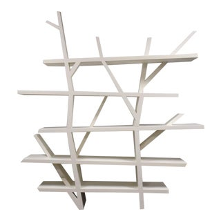 "Roche Bobois White Lacquer ""Legend"" Bookcase For Sale"