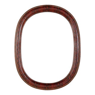1970's Mid-Century Modern Red Python Embossed Leather Mirror For Sale