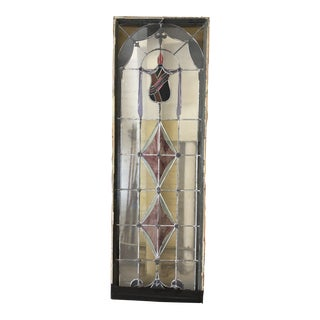 1920s Stained Glass Window For Sale