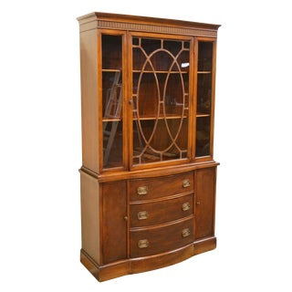 1940's Traditional Duncan Phyfe China Cabinet For Sale