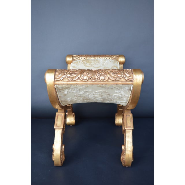 19th Century 19th Century Italian Hand Carved Benches - a Pair For Sale - Image 5 of 11