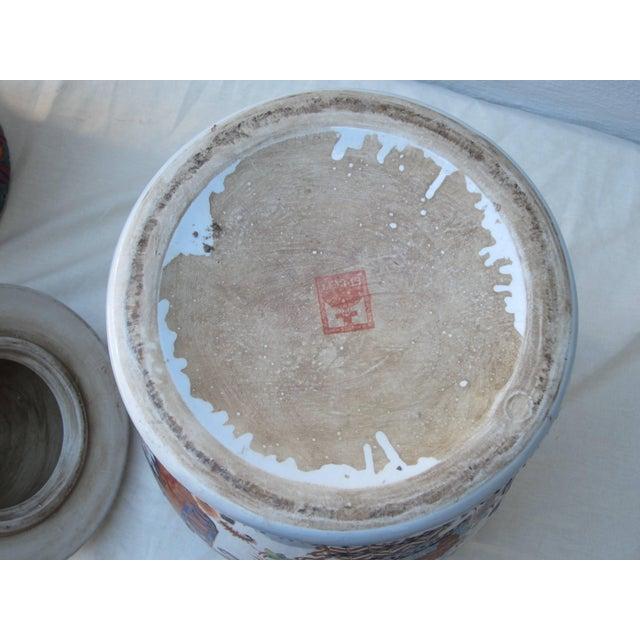 Imari Porcelain Pair of Imari Jars For Sale - Image 4 of 5