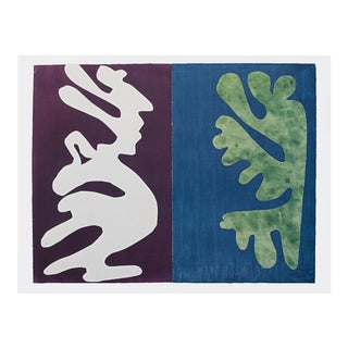 """Henri Matisse """"Composition Violet and Blue"""" First Edition Poster For Sale"""