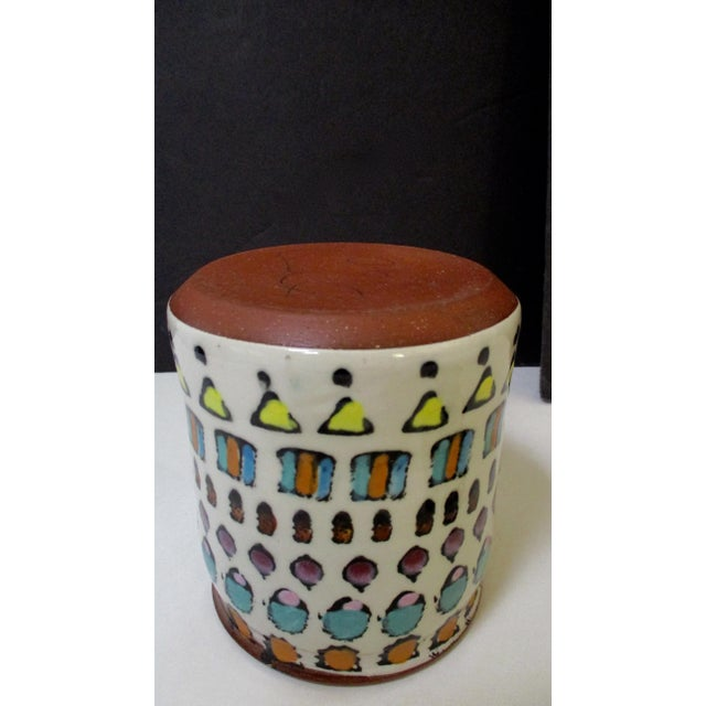 Ceramic Hand Painted Italian Ceramic Canisters - Set of 4 For Sale - Image 7 of 11