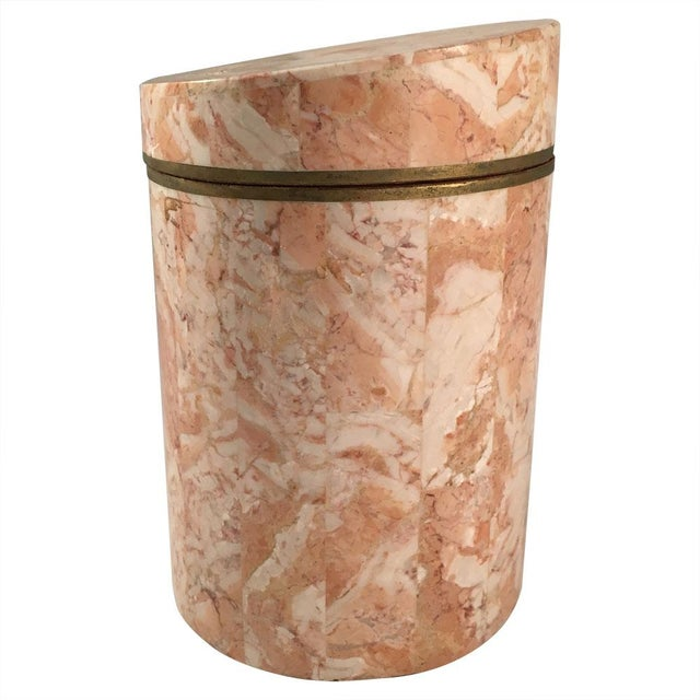 Vintage 1970s Maitland-Smith Stone Canister - Image 2 of 7