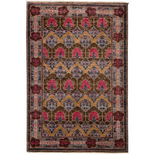 "Arts & Crafts Hand Knotted Area Rug - 5'1"" X 7'10"" For Sale"