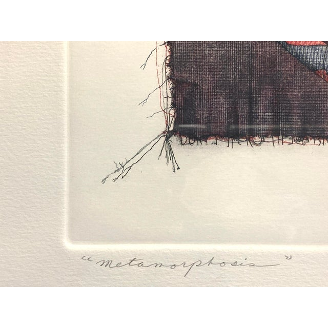 """""""Metamorphosis"""" Etching by Bruce Weinburg For Sale In West Palm - Image 6 of 11"""