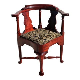 Scott Ferrazzinni Queen Anne Style Mahogany Corner Chair