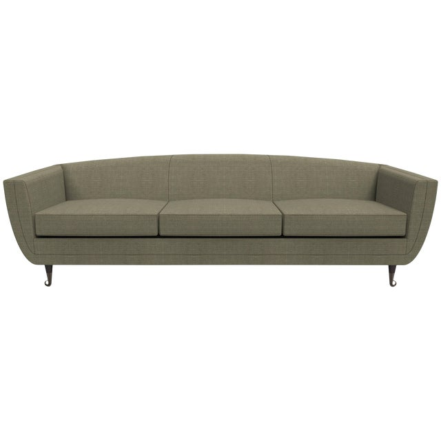 Custom Carlo Upholstered Sofa from William Collins Collection For Sale