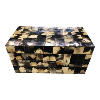 20th Century Boho Chic Inlay Horn Trunk For Sale