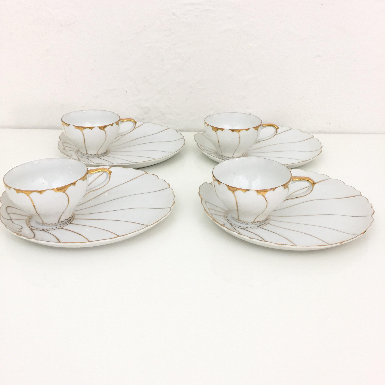 Vintage Japanese Porcelain Tea Cup u0026 Dessert Plates - Set of 7 - Image 6 of & Vintage Japanese Porcelain Tea Cup u0026 Dessert Plates - Set of 7 ...